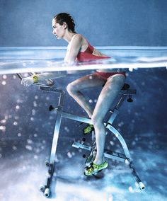 Whoa. Mind = blown. This is Aqua Cycling. Who's in? 10 New Workouts That Put Prancercise to Shame