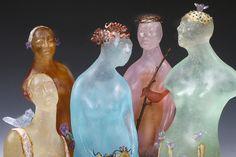 Jan Kransberger_Ladies in Waiting_Kiln cast lead crystal, sterling silver inclusions