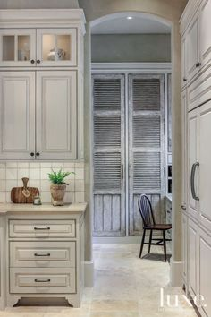 Traditional Neutral Kitchen and Office