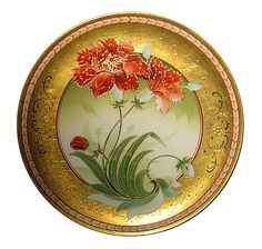 Cabinet plate with both Pickard and Limoges marks.