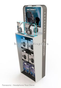 Headphone display stand which can be knocked down to save your shipping cost from HICON POP DISPLAYS LIMITED