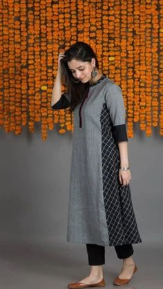Order contact Order contact my whatsapp number 7874133176 Beautiful Cotton Kurta with detailing Salwar Designs, Simple Kurti Designs, New Kurti Designs, Kurta Designs Women, Kurti Designs Party Wear, Salwar Suit Neck Designs, Dress Neck Designs, Designs For Dresses, Blouse Designs