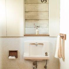 漆喰壁/モザイクタイル/DIY/トイレ手洗い/雑貨/バス/トイレ…などのインテリア実例 - 2014-10-08 13:00:40   RoomClip(ルームクリップ)