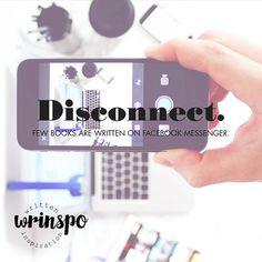 DISCONNECT. Few books are written on Facebook messenger.