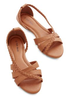 Feeling Carefree Sandal in Tan » LOVE these sandals!