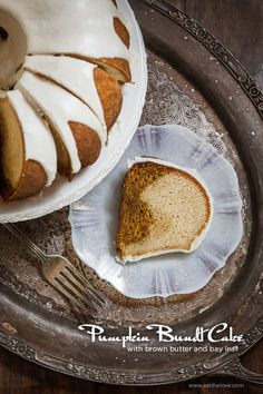 Pumpkin Bundt Cake with Brown Butter and Bay Leaf. By Irvin Lin of Eat the Love. | www.eatthelove.com | #pumpkin #bundtcake #cake #thanksgiving