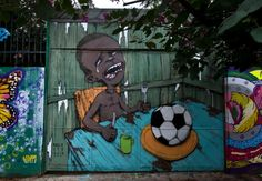 Brazil's anti-World Cup street art – in pictures