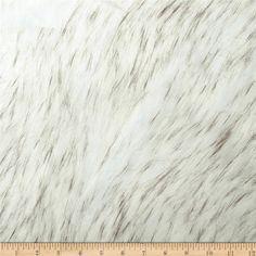 Faux Fur Norwegian Husky Fur Off-White/Black $30.48. Wash Gentle, air dry.