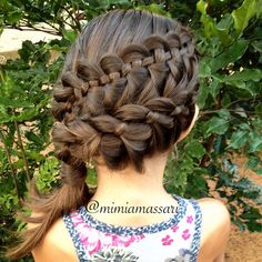 4 strand waterfall braid and simple 4 strand french braid