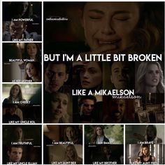 I'm a little broken like a Mikaelson. Vampire Diaries Memes, Vampire Diaries Poster, Vampire Diaries Wallpaper, Vampire Diaries Damon, Vampire Diaries The Originals, Niklaus Mikaelson Quotes, Klaus And Hope, Hayley And Klaus, Legacy Tv Series