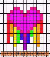 Alpha Friendship Bracelet Pattern #9701 - BraceletBook.com