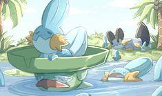 Lucario Pokemon, Pokemon Manga, Mudkip, My Pokemon, Pikachu Memes, Pokemon Stories, Hoenn Region, Deadpool Pikachu, Pokemon Crossover