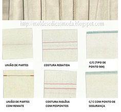 COSTURAS As costuras e o pesponto são fundamentais para a produção de peças de vestuário. Para o efeito, é necessário utilizar a máquina certa, conveniente