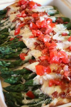 Asparagus Roll-Ups with Cheese Sauce ~ yummy festive recipe