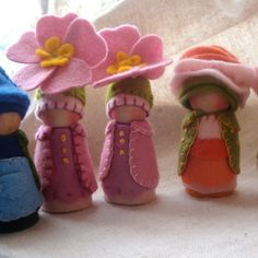 Reserved for Bethazard Custom Flower Cap Gnomes Waldorf Storytelling Dollhouse Doll