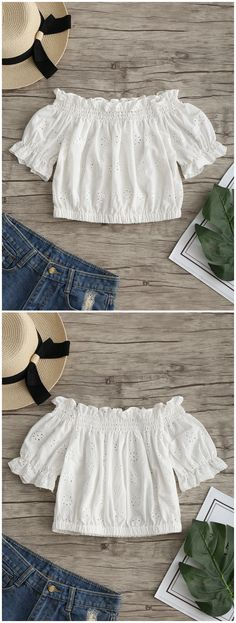 Up to 80% OFF! Ruffles Off Shoulder Hollow Out Crop Blouse. #Zaful #Tops zaful,zaful outfits,spring outfits,spring break,summer dresses,Valentine's Day,Valentine's Day gift,valentines day ideas,valentines outfits,cute,casual,classy,women fashion,fashion,teen fashion,products,tops,blouse,embroidered blouse,shirts,striped shirts,T-shirt,tees,t shirts,teeshirts,tank tops,crop tops,shirts,clothes,tunic tops,summer tops,lace top,ladies shorts,elegant outfits @zaful Extra 10% OFF Code:ZF2017