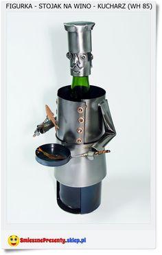 MasterChef metalowy stojak na butelkę wina. Polskie rękodzieło jakość gwarantowana Handmade