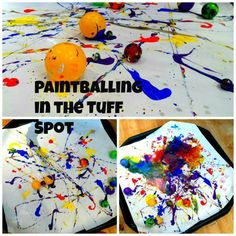 P is for Paint Balling Tuff Spot paintballing in the tuff spot This weekend, our Tuff Spot arrived! We have already done so much with it (see our snow play post) but before we did that, we wanted to try Edspire's fantastic paint-balling ac…