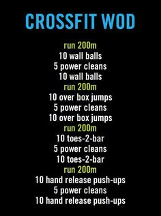 CrossFit WOD Workout