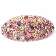 Hair jewelry Acrylic Austria Rhinestone Crystal Hair Barrette for Women Clips for Hair Hairpins, Colorful ** To view further for this item, visit the image link.