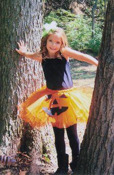 Pumpkin Tutu Halloween Costume: Preemie - big girl sizes, Orange Halloween Tutu Costume Pumpkin