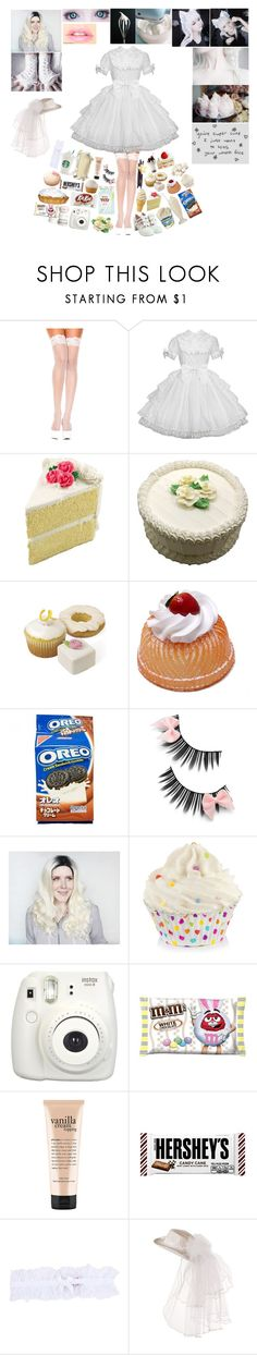 """""""Vanilla bean: Nilla-Chan"""" by silentdoll ❤ liked on Polyvore featuring Aime, GET LOST, Fujifilm, philosophy, Hershey's, Hello Kitty and L'Agent By Agent Provocateur"""