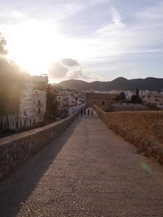 The walk up to the top of Dalt Vila in Ibiza is perfect just as the sun sets
