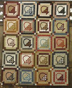 Primitive Folk Art Quilt Pattern: GATHER THE TROOPS