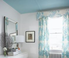 Choose the Best Ceiling Paint Colors - Best Ceiling Paint, Ceiling Paint Colors, Colored Ceiling, Best Paint Colors, White Ceiling, White Walls, Wall Colors, Colours, Blue Ceilings