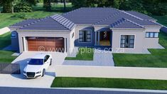 3 Bedroom House Plan - My Building Plans South Africa Round House Plans, Tuscan House Plans, Free House Plans, 4 Bedroom House Plans, Garage House Plans, Family House Plans, Contemporary House Plans, Modern House Plans, Master Suite