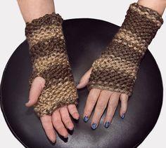 gants sans doigt en tricot longs mitaines par CreationsArtPhoto