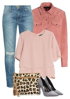 """Pastel & Leopard Print"" by itsmytimetoshinecoco ❤ liked on Polyvore featuring rag & bone, Current/Elliott, MANGO, Village England, women's clothing, women, female, woman, misses and juniors"