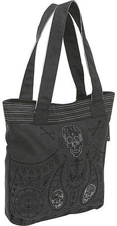 ☆ Loungefly Skull Bandana Embroidered Tote ☆