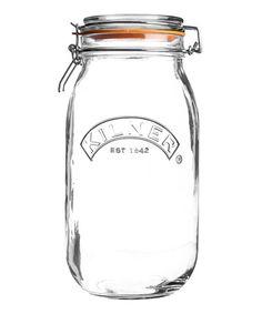 Look at this #zulilyfind! 102-Oz. Round Clip-Top Jar #zulilyfinds