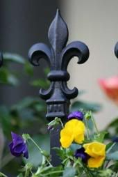 I love a beautiful fleur de lis.  I am using this one on my new wrought iron gates.