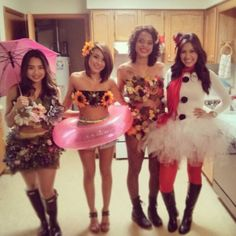 Check out best Group Halloween costumes idea that'll make your girl squad shine like never before. Flaunt your friendship with these Group Halloween Outfits Biker Girl Halloween Costume, Powerpuff Girls Halloween Costume, Girl Scout Costume, Zombie Couple Costume, Best Group Halloween Costumes, Cute Costumes, Group Costumes, Halloween Outfits, Girl Costumes