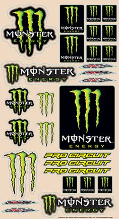 Monster Energy Pro Circuit Logo Sheet