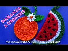 MANUALIDADES A CROCHET PARA VENDER, naranjas tejidas para agarraderas de ollas paso a paso - YouTube