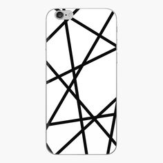 A modern black and white phone case skin for minimal lovers Minimal Style, Minimal Fashion, Iphone Skins, Iphone Cases, Line Patterns, Floor Pillows, Vinyl Decals, Minimalism, Clock