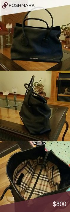Burberry Black Bag in like new condition  London Grainy Leather Medium Baynard Tote  comes with dustbag and tag Burberry Bags Totes