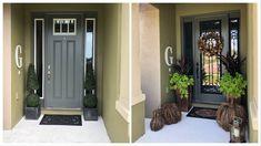 Fall 2018 Sneak Peek and Front Door Makeover Front Door Porch, House Front Door, Fall Home Decor, Autumn Home, Front Door Makeover, Room Tour, Happy Fall, Fall 2018, Dollar Stores