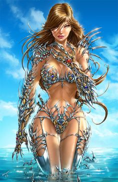 Witchblade - swimsuit edition by *jamietyndall on deviantART  (http://jamietyndall.deviantart.com)