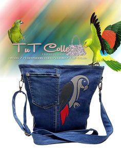 Női táska bőr applikációval
