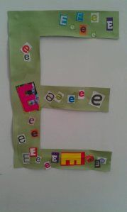 Make a large letter and search for that letter to create a collage. First letter in child's name is good place to start!