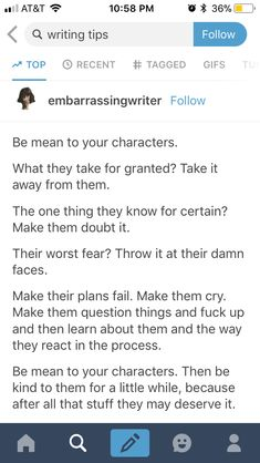 Not bad advise. I've done so many things to make my characters ( and readers ) mad. For example, killing key characters ... cuz I wanted to. Bringing back an old villain ( actually , my readers liked that ). Oh yeah and the time I made an impossible ship that wasn't going to happen, that my readers and characters liked. I kept giving them bits of hope and then in the end I was like haha sucks for y'all