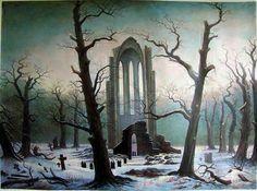Klosterfriedhof im Schnee   ~ Caspar David Friedrich  1817