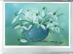 Grüße -  Schneeglöckchen  RESERVIERT( für Hildegard ?  - ein Designerstück von Vogelmalerin bei DaWanda