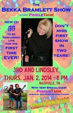 PinkleTank plays live in Nashville on Jan 2. Don't miss it.