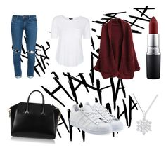 """""""Untitled #36"""" by romane1103 ❤ liked on Polyvore featuring Givenchy, Paige Denim, adidas Originals, Topshop and MAC Cosmetics"""