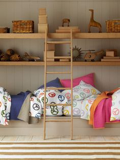 Ideas for new home, oscars room/playroom. Put shelves up, display vintage and new Waldorf style toys...get shelves in a similar wood as toys